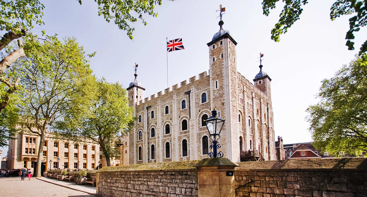 Tower of London in England
