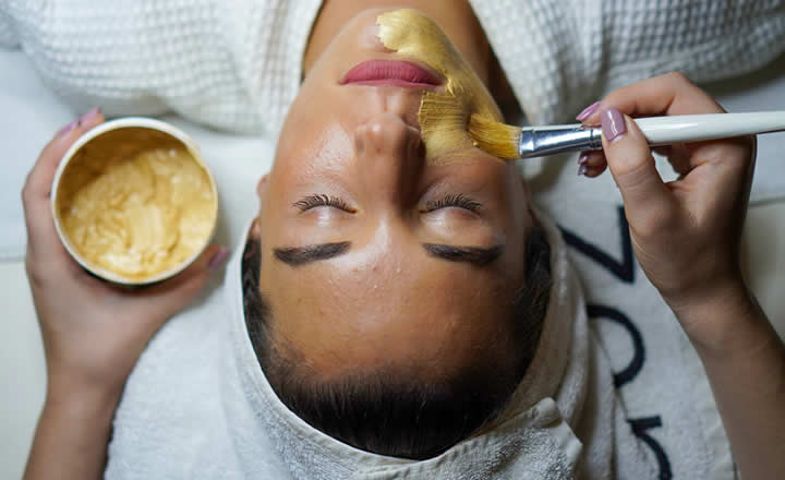 Luxury facial treatment at spa