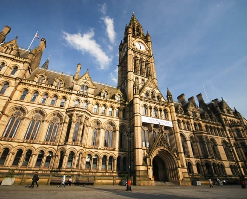 Manchester City Hall in England