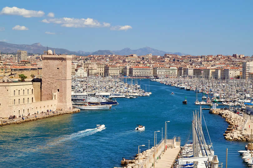 Harbour of Marseille in France