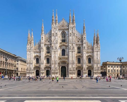 Milan in Italy Duomo square