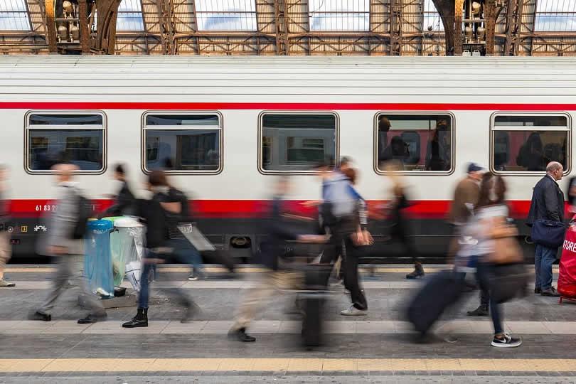 Milan train station platform