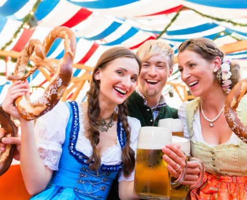 Oktoberfest beer festival in Munich Germany