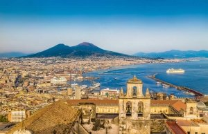 Bay of Naples in Italy