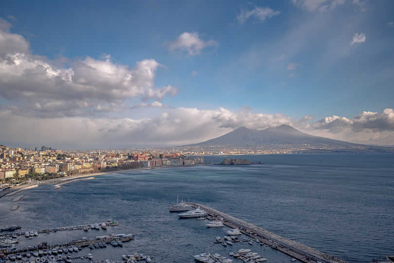 Naples Italy city centre and beaches