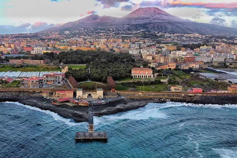 Vesuvius Volcano near Naples Italy