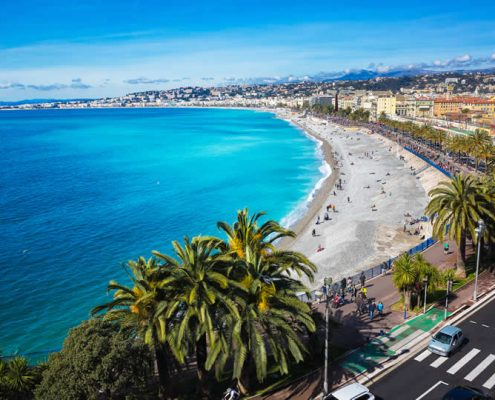 Nice Beach French Riviera France