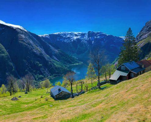 Alpine landscape in Norway