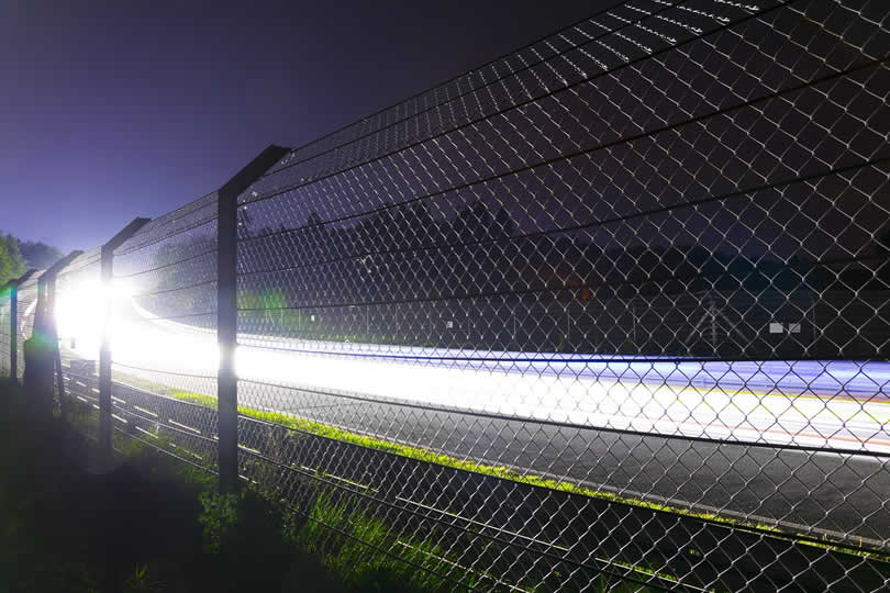 Nurnburgring race circuit by night
