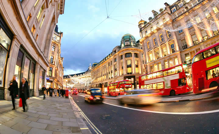 Oxford Street with Christmas Lights
