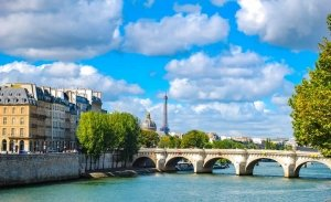 Paris Seine River in Summer