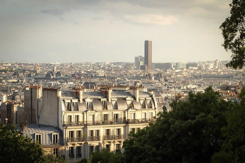 Paris view of Montparnasse tower