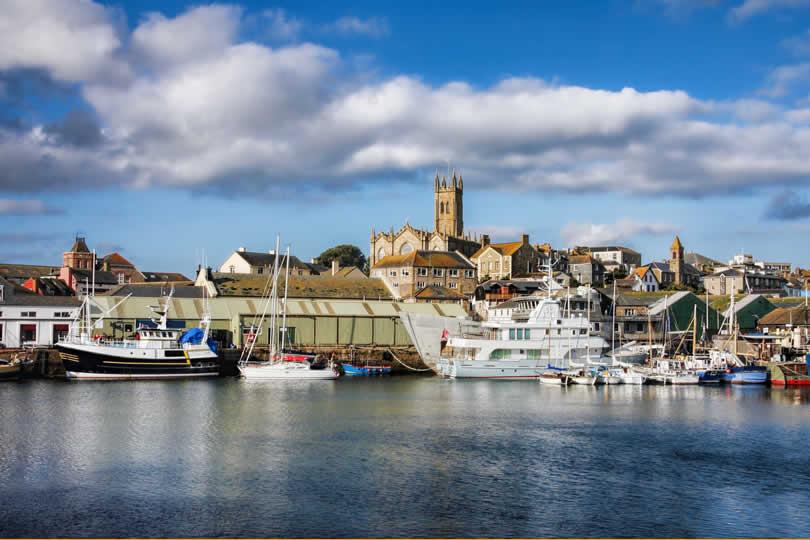Penzance in Cornwall England