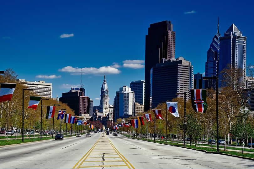 Downtown Philadelphia in Pennsylvania