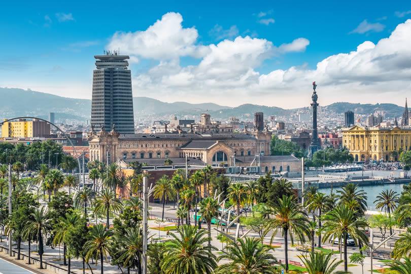 Port Vell neighborhood in Barcelona Spain