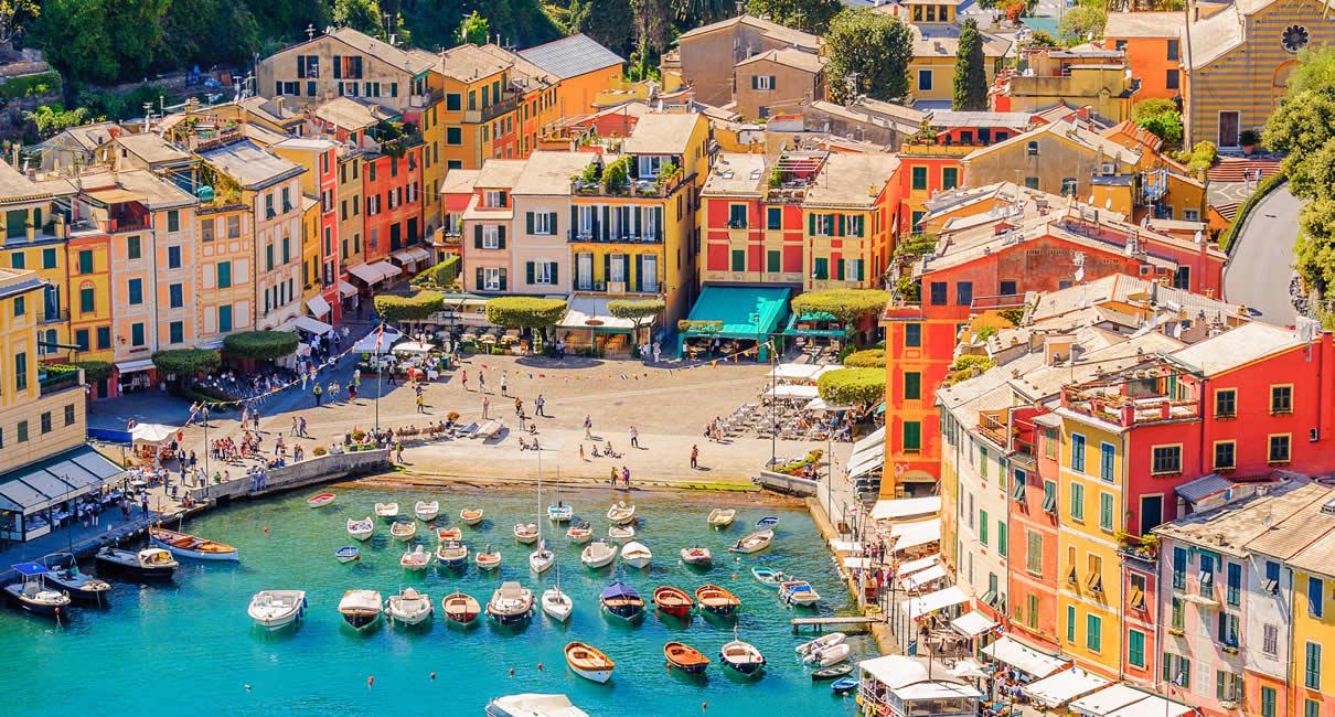 Portofino in Italy harbour and main square