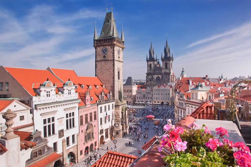 Prague city centre square