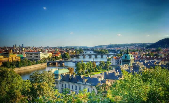 Prague in July Summer