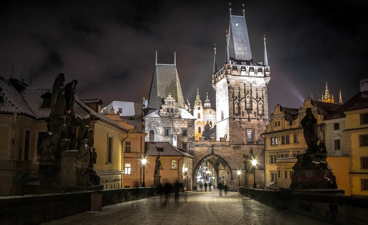Prague snow in December