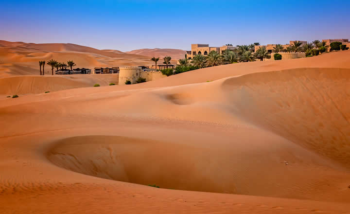 Qasr Al Sarab desert resort in Abu Dhabi