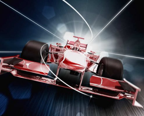 red formula one racing car