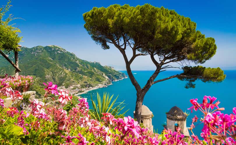 Ravello in spring sea view