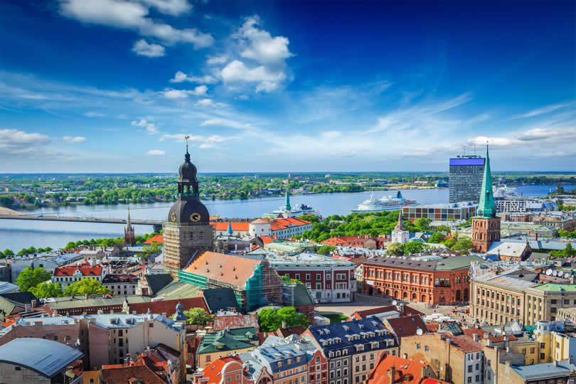 City view of Riga in Latvia