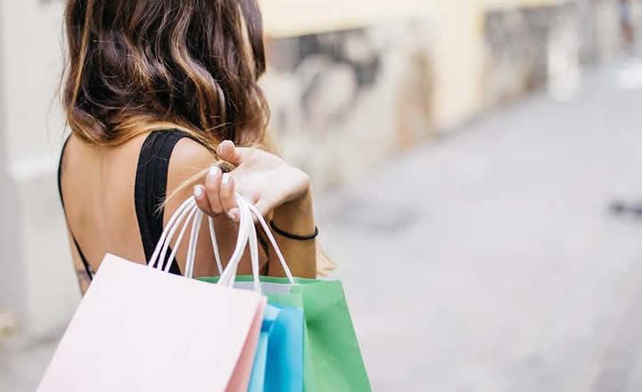 Shopping woman carrying bags