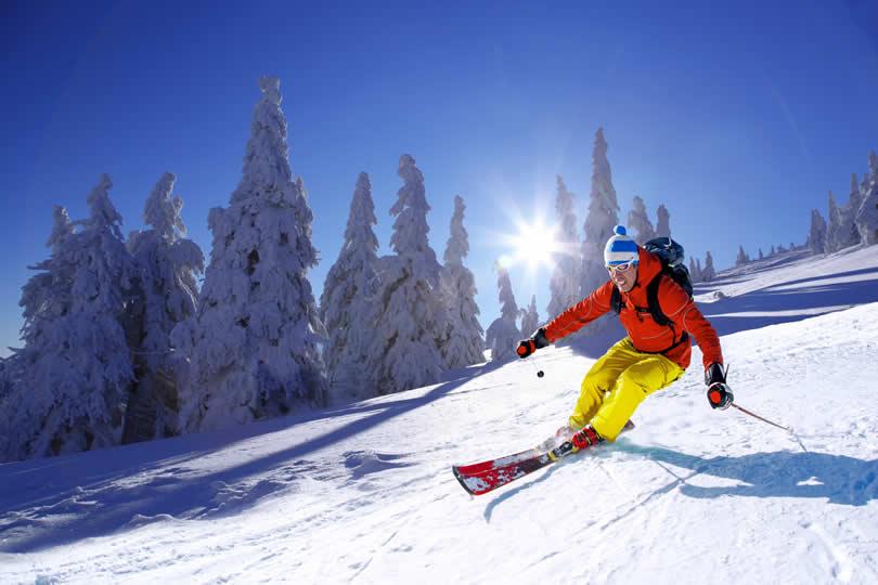 Downhill skiing alpine Alps