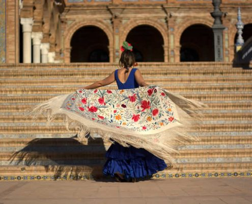 Flamenco dancer in Seville Spain