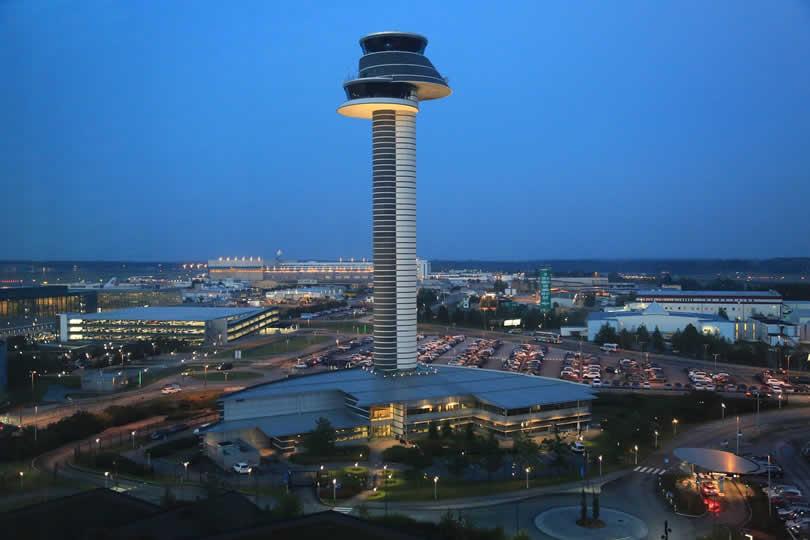 Control Tower at Stockholm Arlanda Airport