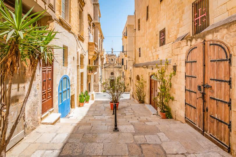 Old street in Valletta Malta