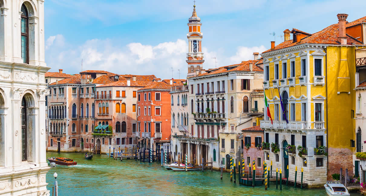 Venice Grand Canal and buildings in Italy