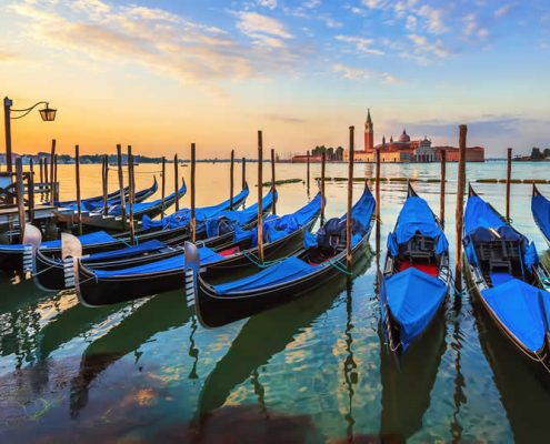 Venice gondola on Grand Canal
