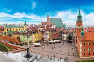 Warsaw Poland main square