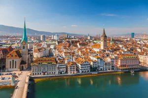 Zurich in Switzerland downtown view